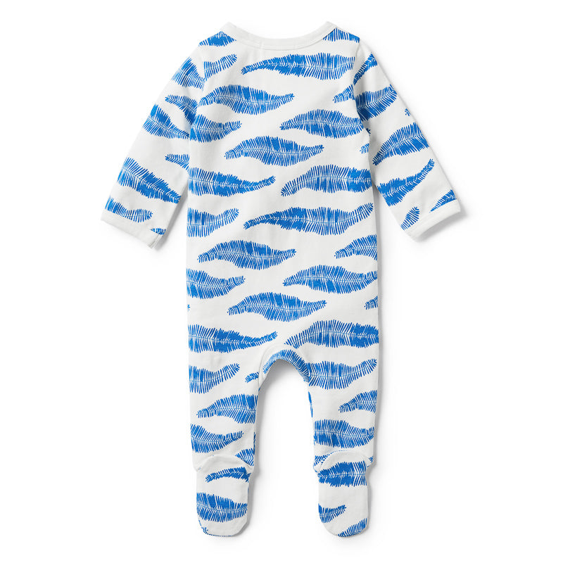 Wilson & Frenchy Jungle Leaf Long Sleeve Zipsuit Onesies Wilson & Frenchy - Little Styles