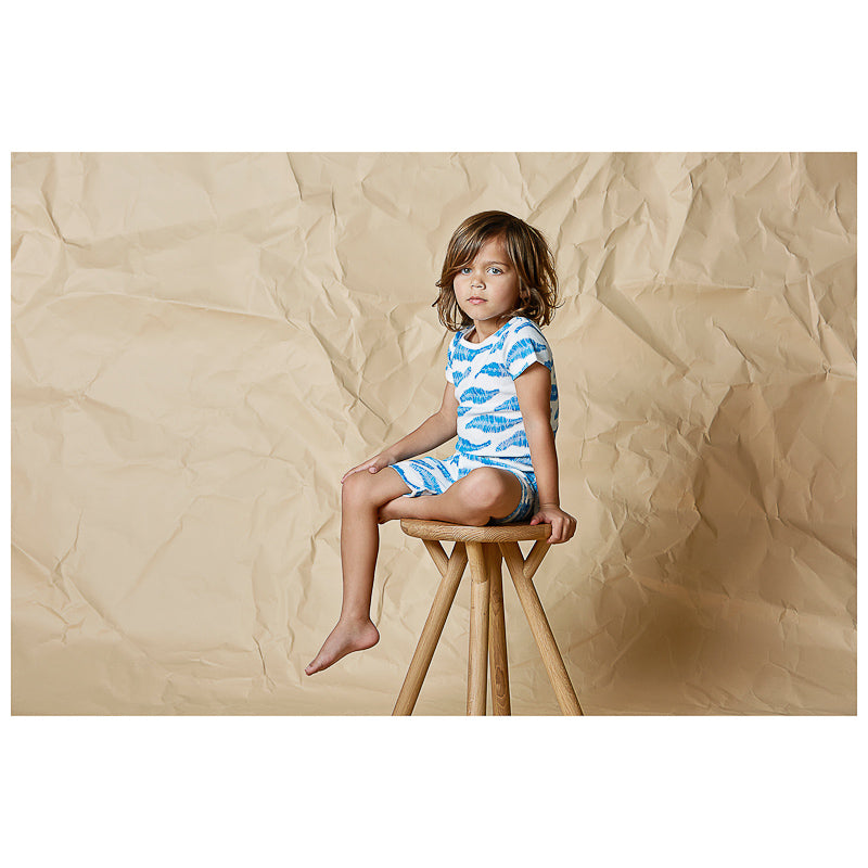 Wilson & Frenchy Jungle Leaf Short Sleeve Pyjama Set Pyjama Wilson & Frenchy - Little Styles