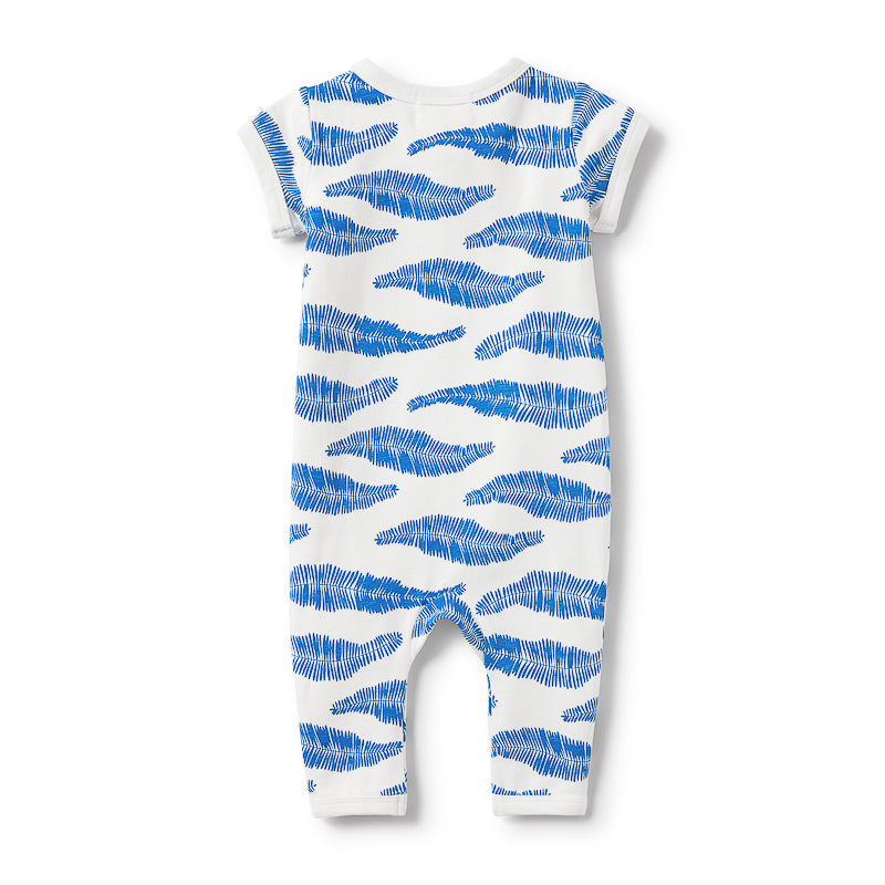 Wilson & Frenchy Jungle Leaf Short Sleeve Zipsuit Onesies Wilson & Frenchy - Little Styles