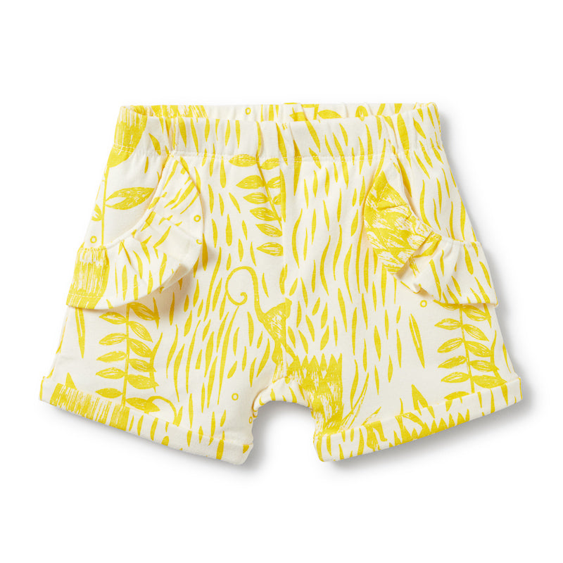 Wilson & Frenchy Mellow Yellow Ruffle Pocket Shorts Shorts Wilson & Frenchy - Little Styles