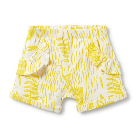 Wilson & Frenchy Mellow Yellow Ruffle Pocket Shorts