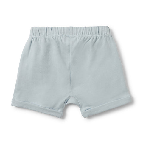 Wilson & Frenchy Powder Blue Slouch Pocket Shorts