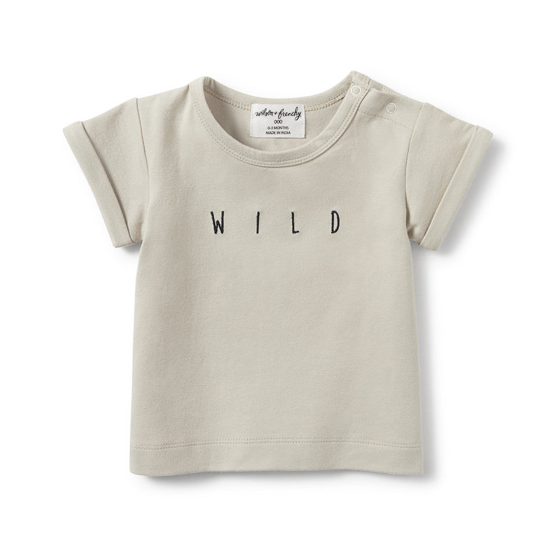 Wilson & Frenchy Silver Birch Wild Rolled Cuff Tee Tops Wilson & Frenchy - Little Styles