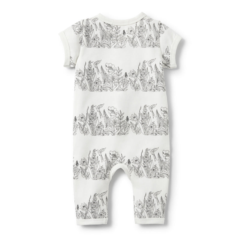 Wilson & Frenchy Wonderful Short Sleeve Zipsuit Onesies Wilson & Frenchy - Little Styles