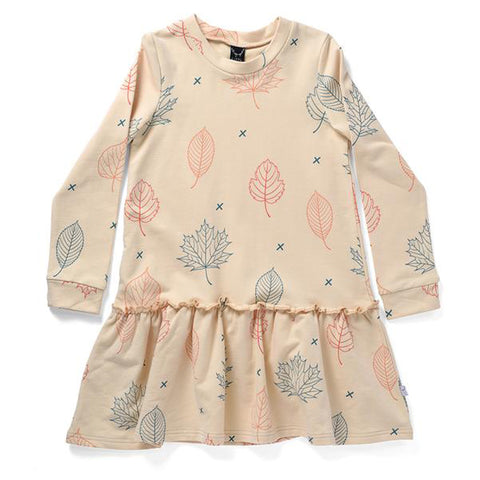 Littlehorn Autumn Leaves Dress - Sand
