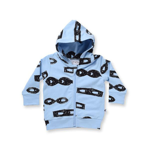 Minti Baby Different Masks Furry Zip Up - Sky Blue
