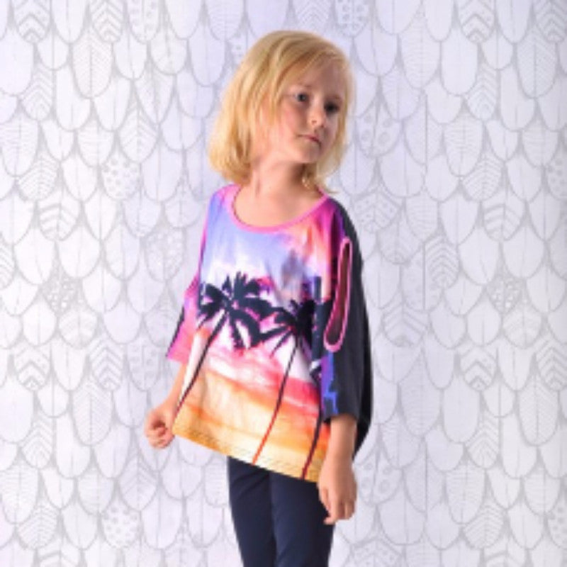 Paper Wings Poncho tee Tops Paper Wings - Little Styles