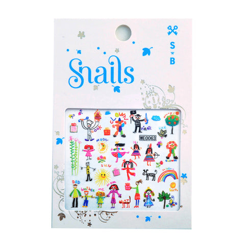 Snails Nail Stickers - Baby Art