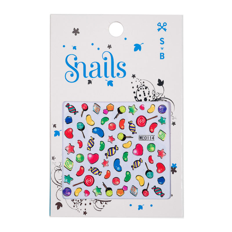 Snails Nail Stickers - Candy Crush Accessories Snails Nail Polish - Little Styles