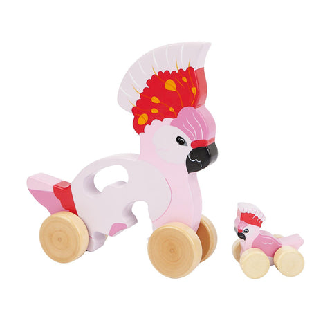 Sunnylife Push and Pull Toy Cockatoo