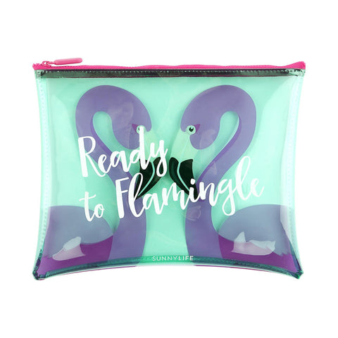 Sunnylife See-Through Pouch - Flamingo