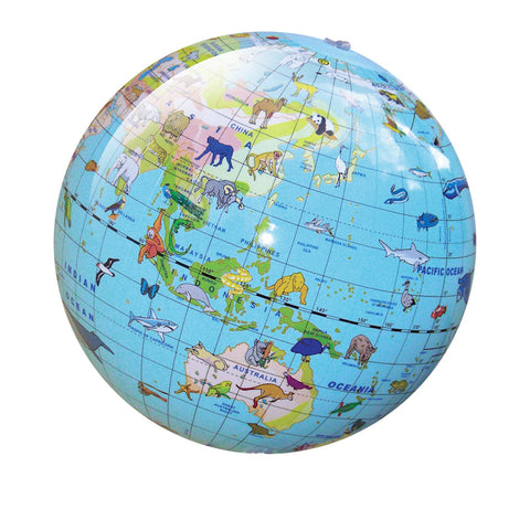 Tiger Tribe World Globe - Animal - 30cm