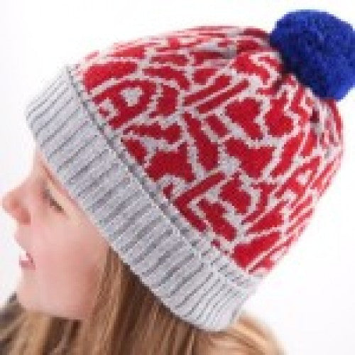 Acorn Adventure Beanie Navy Blue Stripe