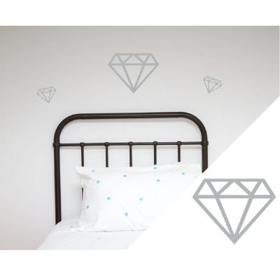 General Eclectic Wall stickers - diamonds silver