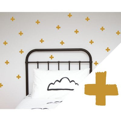 General Eclectic Wall stickers - thick brushed crosses gold