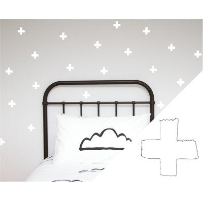 General Eclectic Wall stickers - thick brushed crosses white