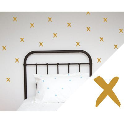 General Eclectic Wall stickers - thin brushed X's gold