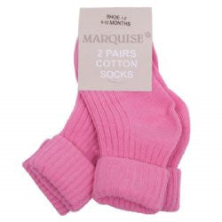 Marquise Knitted Socks Two Pair - Sweet Pink