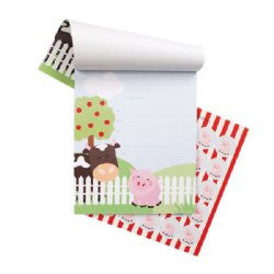 Paper Eskimo Koko pad invitations - farm