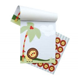 Paper Eskimo Koko pad invitations - safari