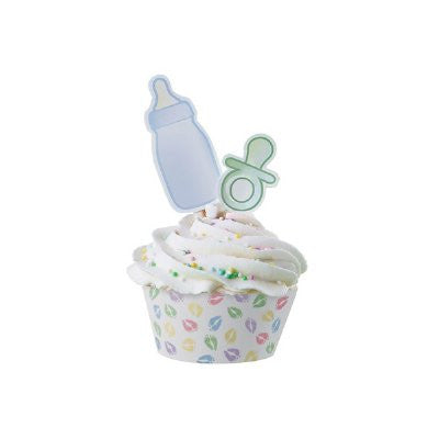 Wilton Baby feet cupcake wraps & picks