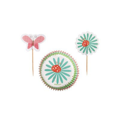 Wilton Garden party cupcake combo pack