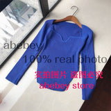 2021 new spring and summer fashion women clothes cashmere sqaure collar full sleeves elastic high waist sexy pullover WK080