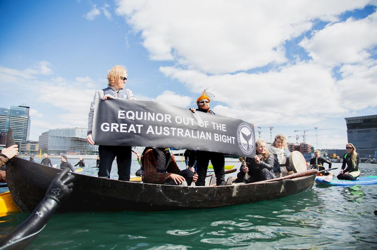 Taking the protest to Equinor's doorstep: Oslo, Norway.