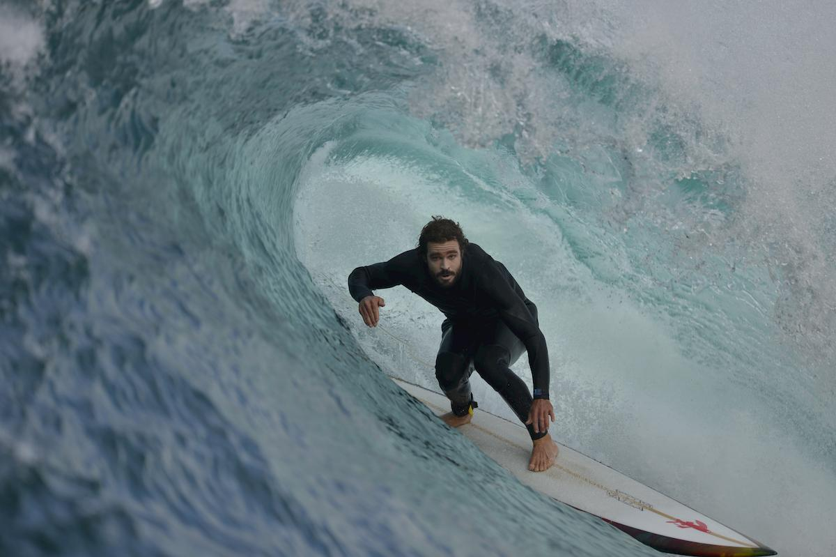 Heath Joske surfing in South Australia.