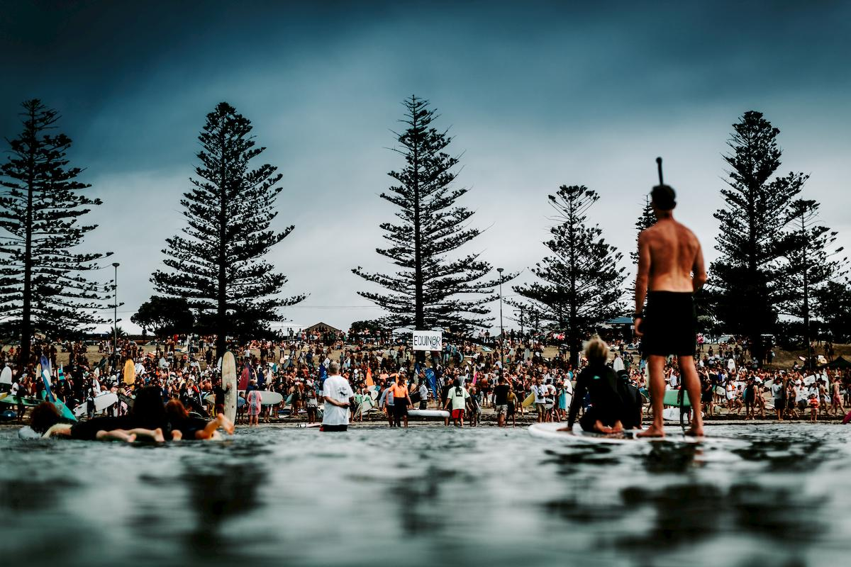 From the heart of the second, National Day of Action, paddle-out in Torquay. Photo: Ed Sloan.