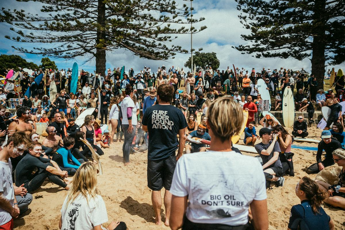 At the Torquay paddle-out in November 2019. Photo: Jarrah Lynch.
