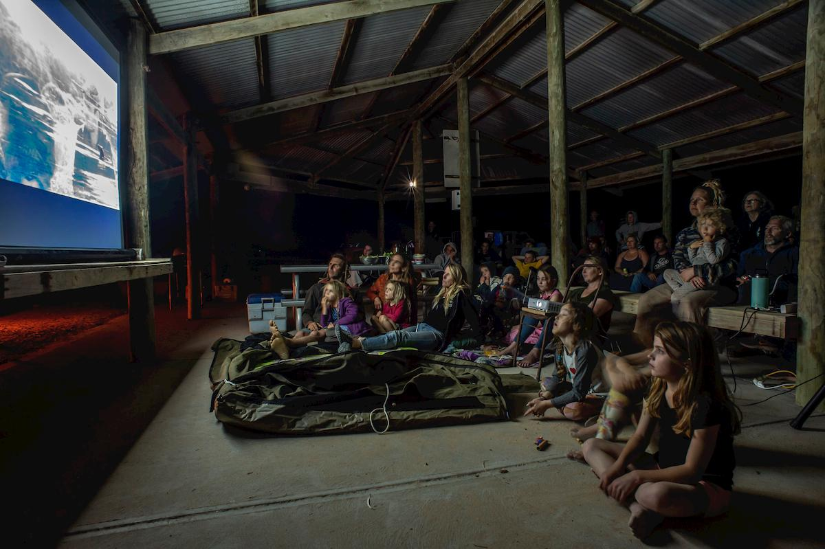 A community screening of 'The Head of The Bight'. Photo: SA Rips.