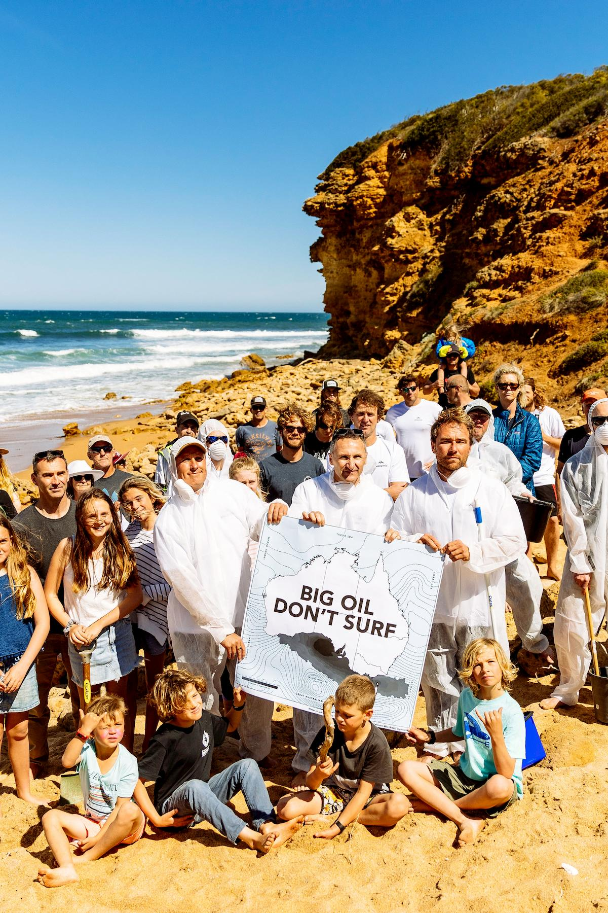 Big Oil Don't Surf protest at Bells Beach, 2018