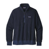 Women's Woolyester Fleece Pull Over - Navy Blue