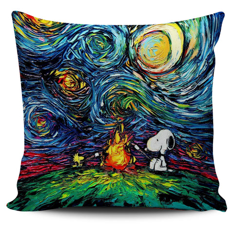 Starry starry night Snoopy Camping Pillowcase