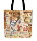 Little Girl in Library Tote