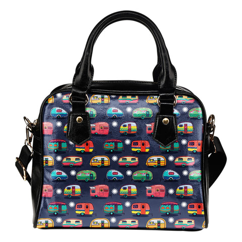 Campers & Flowers - Shoulder Handbag