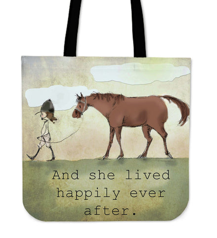 And she lived happily ever after - Tote Bag