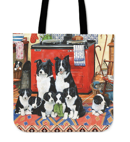 BORDER COLLIE FAMILY Tote Bag N95