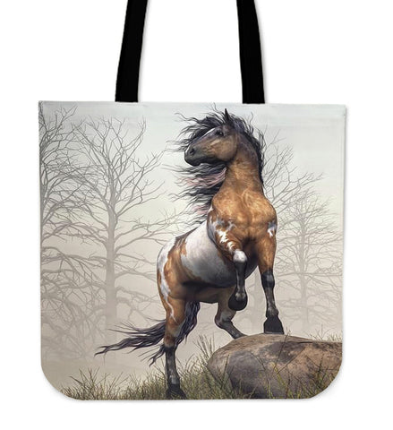 War Horse In The Wood - Tote Bags