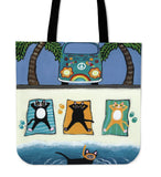 3 CATS SUNBATHING TOTE N95