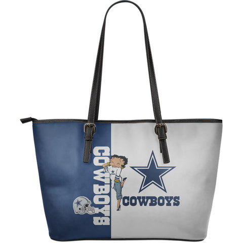 Cowboys - Large Leather Tote Bag