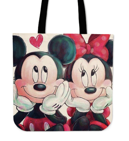 Mickey and Minnie Couple Dating Tote Bag BTT