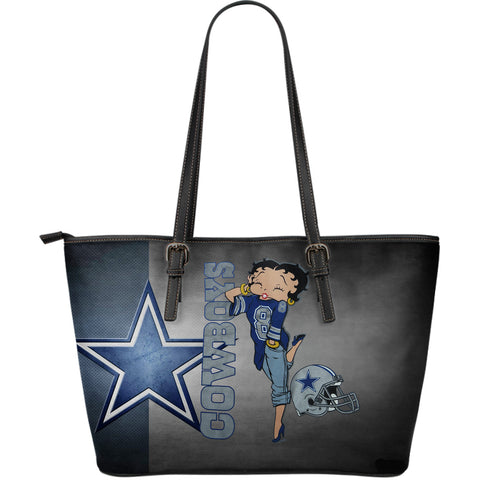 Dallas Cowboy - Large Leather Tote Bag