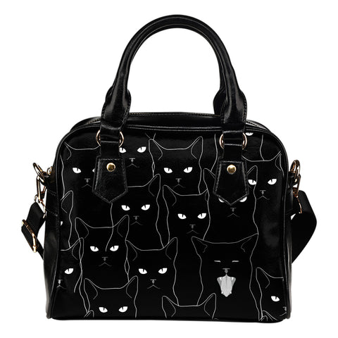 Black cats Shoulder Handbag