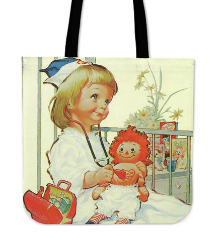LITTLE NURSE AND DOLL TOTE