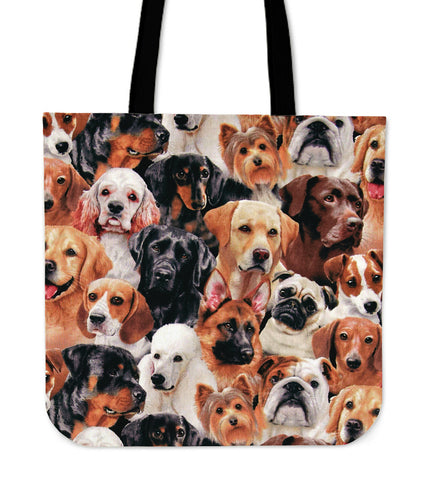 Packed Dogs Tote Bag