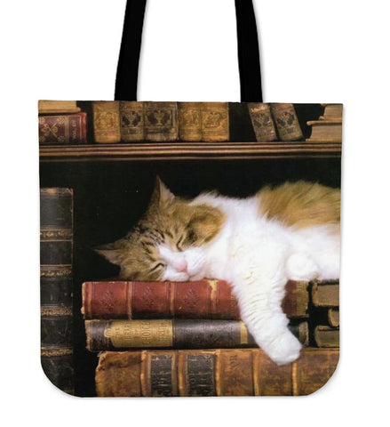 Kitties and Books - Tote Bags