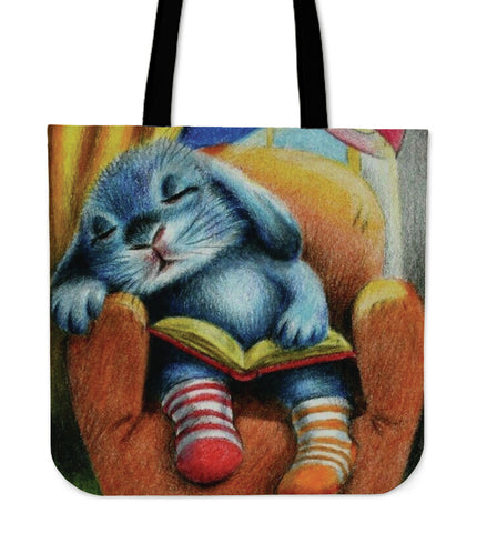 Blue Rabbit - Tote Bags