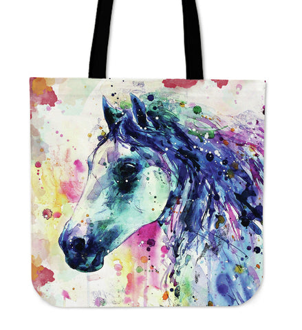 Horse Watercolor Tote Bags